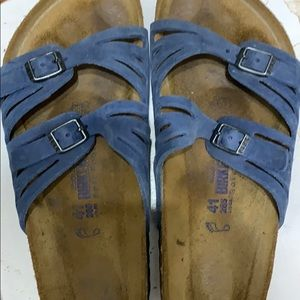 Birkenstock Shoes - Birkenstock blue sandals, size 41
